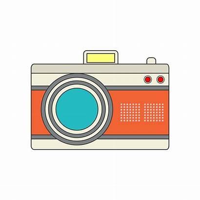 Camera Icon Project Retro Vector Clipart Graphics