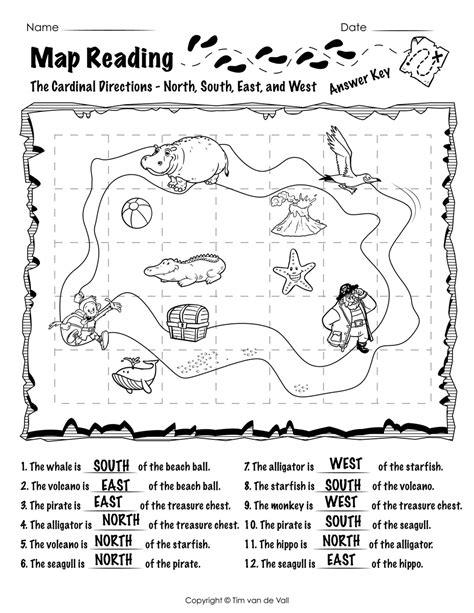 free printable map reading worksheets tim s printables