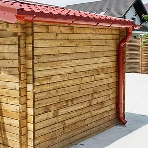 Gouttière Pour Abri De Jardin : kit goutti res rouge pack pr t la pose pour abri gardy shelter 20m ~ Melissatoandfro.com Idées de Décoration