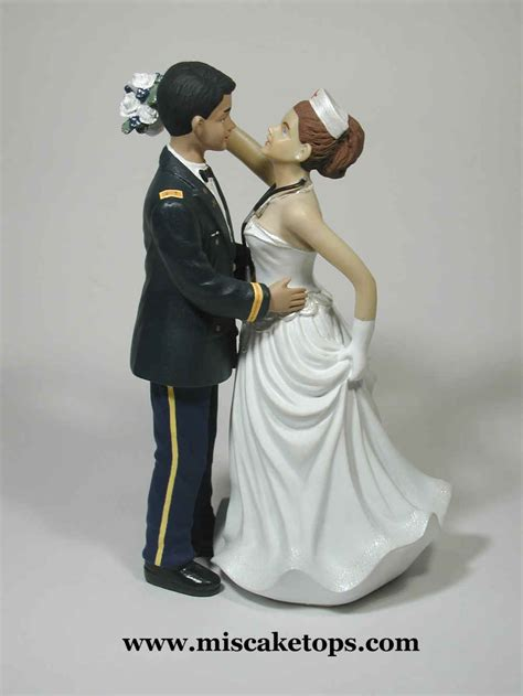 military examples  personalized cake tops