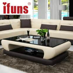 livingroom tables ifuns living room furniture modern new design coffee table glass top wood base coffee table