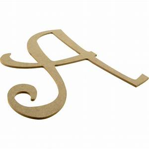 14quot decorative wooden curly letter a ab2145 With fancy wooden letters