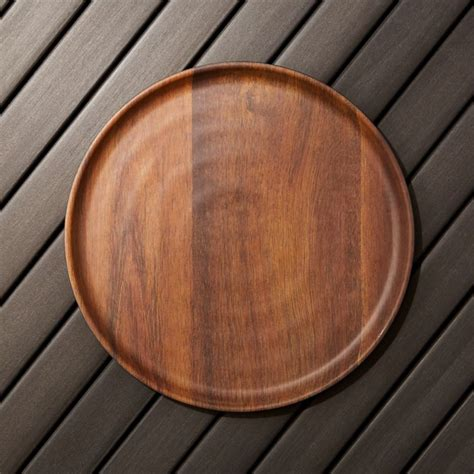 Wood Grain Melamine Dinner Plate + Reviews | Crate and Barrel