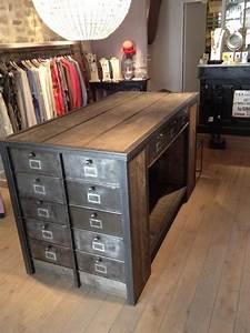 comptoirs agencement de magasin au style industriel With idee deco cuisine avec mobilier de boutique