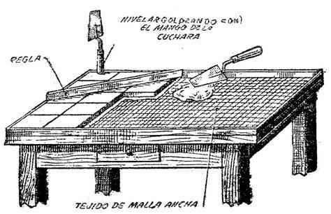 como hacer una mesa  azulejos