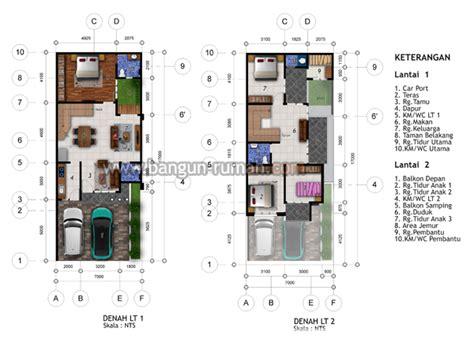 desain rumah hook lebar tanah  meter   meter desain