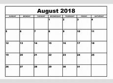 August 2018 Calendar With Bank Holidays Free Calendar