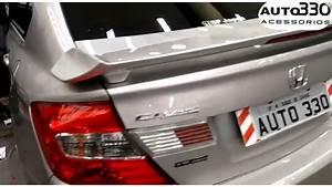 Aerofolio Civic Novo Prata Global - Auto330