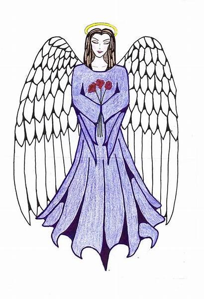 Angel Drawings Guardian Drawing Tallulah Angels Line