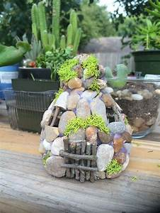 Creative, Diy, Project, Water, Pebble, Garden, Art, With, Stone