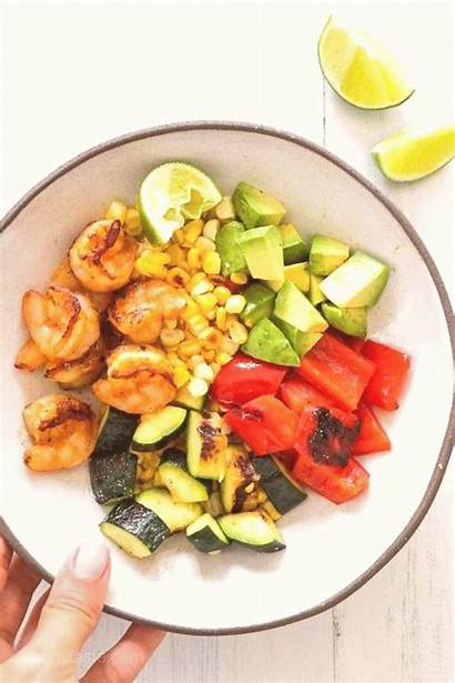 Shrimp Corn Zucchini Grilled Juice Cook Topped