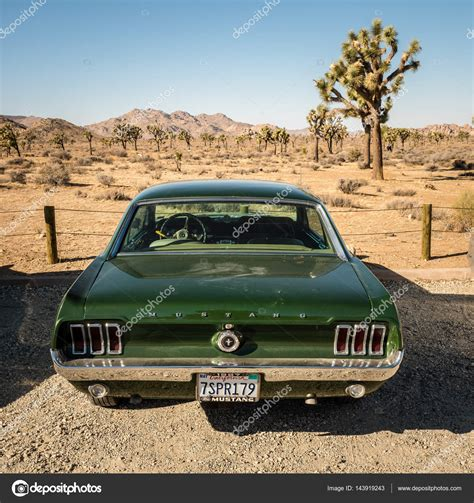 Vintage Muscle Car In The Desert