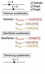 Volumen Zylinder Berechnen Liter : oberfl che und volumen bei zylinder kegel und kugel mit ~ Themetempest.com Abrechnung