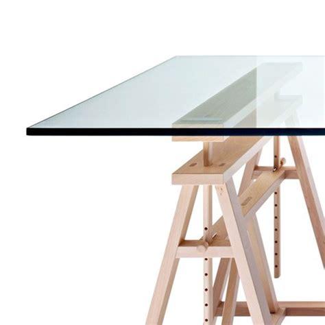 bureau table en verre table architecte en verre
