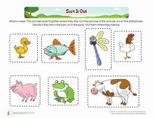 categorizing worksheets  kindergarten cialiswowcom