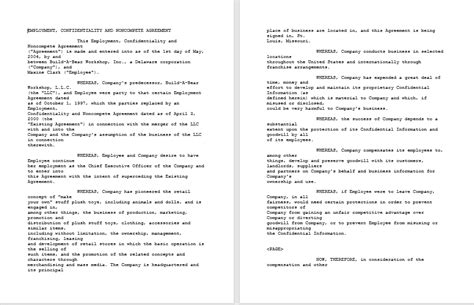 Non Compete Agreement Template 37 Free Non Compete Agreement Templates Ms Word