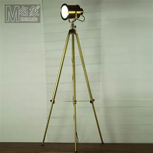 Modern home decoration antique brass living room floor for Chunky brass floor lamp