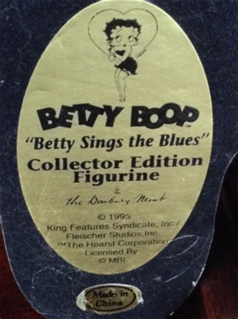 Betty Boop Betty Sings the Blues Collector Figurine