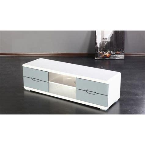 meuble tv gris et blanc achat vente meuble tv meuble tv gris et blanc cdiscount