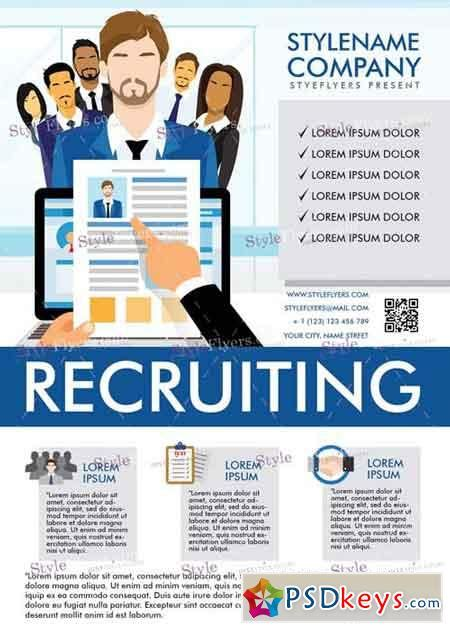 recruiting flyer template entown posters