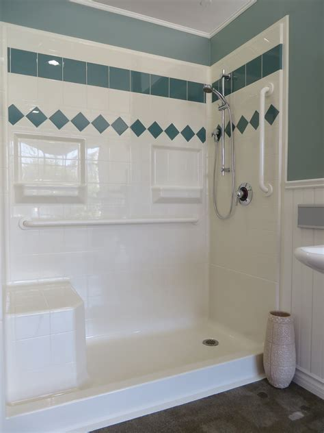 walk in showers with seats 4ldss6030 four piece 60 x 30 curbed shower 5 threshold end drain and mold in seat orca