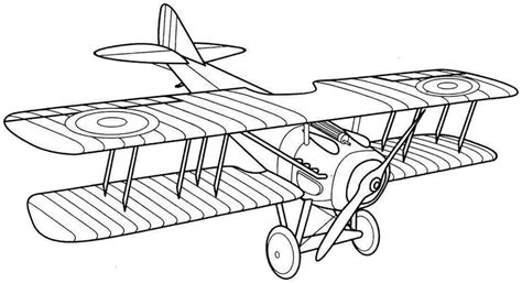 biplane coloring page printable   airplane drawing