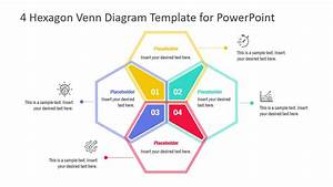 4 Hexagon Venn Diagram Powerpoint Template