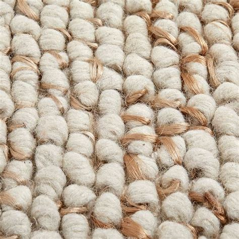 mini pebble wool jute rug naturalivory west elm