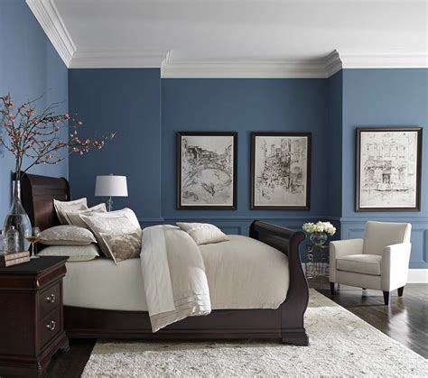 pretty blue color with white crown molding inspiration
