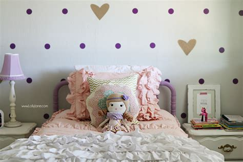 girl purple gold bedroom makeover lolly jane