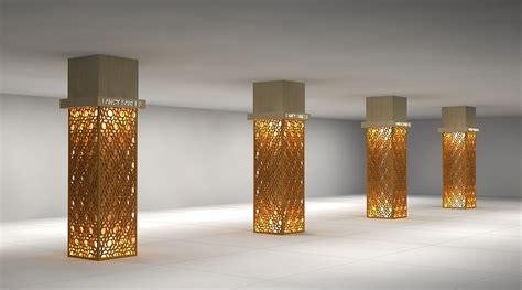 model home interior 3d column design