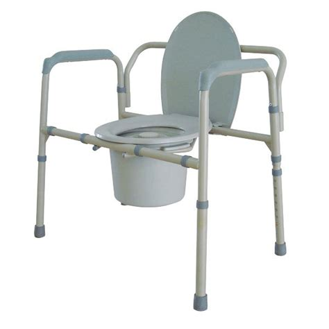 drive bariatric folding all in one steel commode