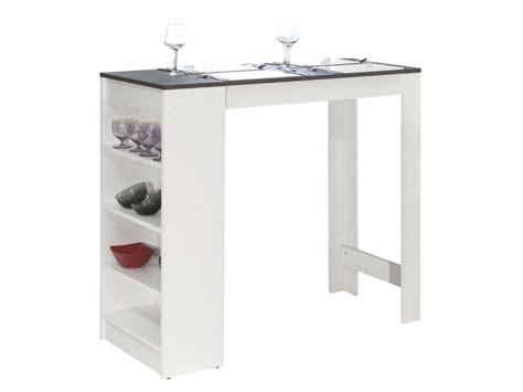 table de bar coloris blanc b 233 ton vente de table conforama