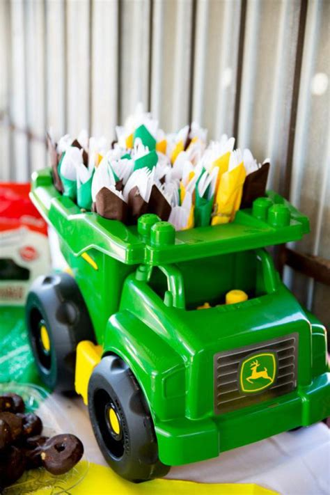 karas party ideas john deere tractor themed birthday