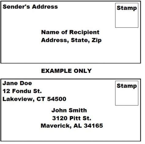 write  envelope