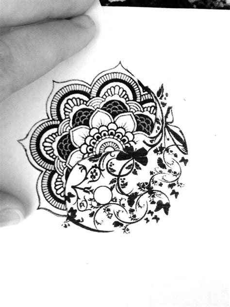 Mandala/yin yang. Looking to build a sternum tattoo, this