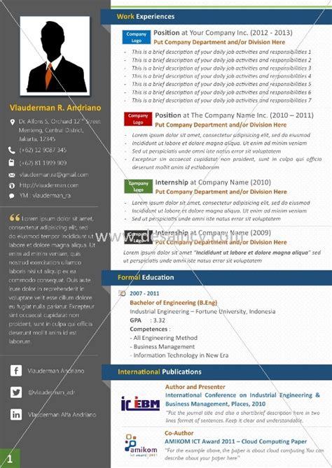 Template Resume Menarik by Contoh Cv Kreatif Terbaru Seeker