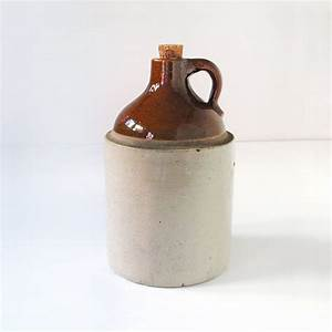 Vintage Stoneware Moonshine Jug