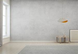 Room With Empty Concrete Wall Background In Modern House ...