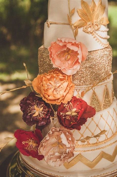romantic burgundy  rose gold fall wedding ideas
