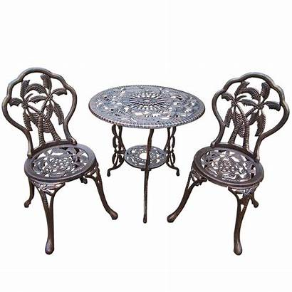Bistro Cast Table Chairs Metal Aluminum Chair