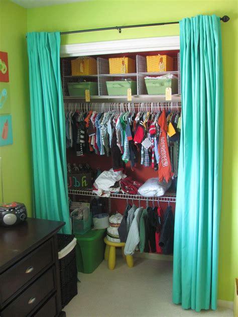 Single Door Closet Organization Ideas by Closet With Curtains Instead Of Doors Bedroom