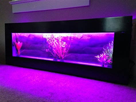 panoramic wall aquarium 48 x18 black with color changing