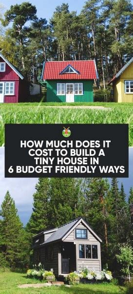 How Much Does It Cost To Build A Bar by How Much Does It Cost To Build A Tiny House