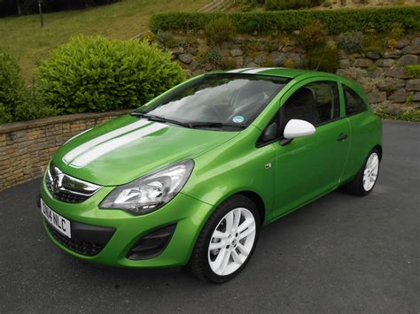 vauxhall green vauxhall corsa 1 2 sting 3 door car for sale llanidloes
