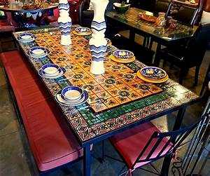 Mosaic coffee table to make the best interior coffee for Mexican style coffee table