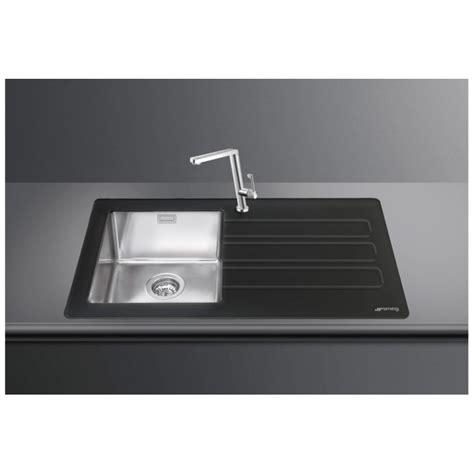 brushed stainless steel sinks kitchen smeg lmn1vnd newson design kitchen sink 1 bowl brushed 7975