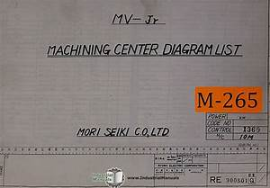 Mori Seiki Mv Jr Mahcining Center Diagrams List Manual