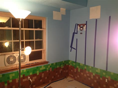 minecraft bedroom wallpaper minecraft themed bedroom wallpaper images