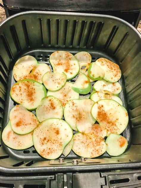air fryer apple chips apples peanut dip butter